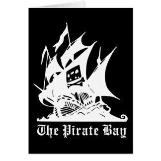 the pirate bay pirate ship logo greeting card