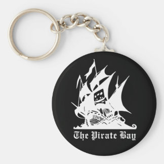 the pirate bay pirate ship logo keychains