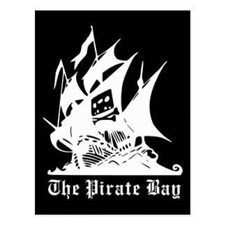 the pirate bay pirate ship logo post card