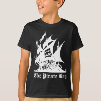 the pirate bay pirate ship logo tees