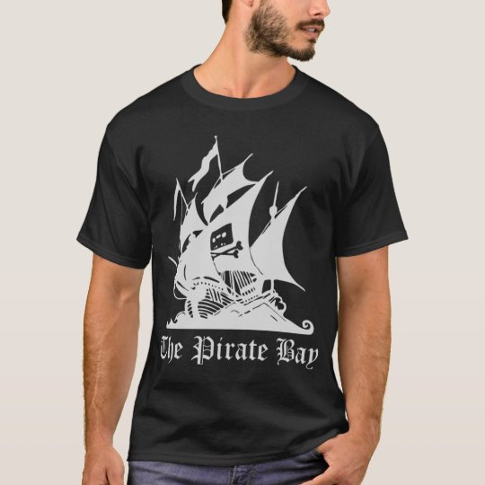 The Pirate Bay  T-Shirt Black - Customised
