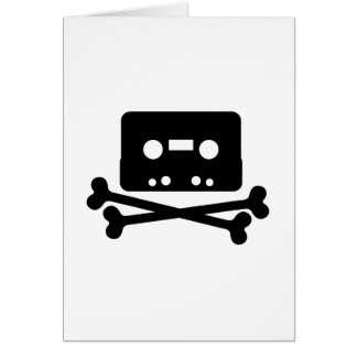 The Pirate Bay Tape Logo Greeting Cards