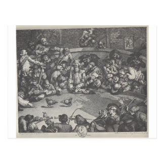 The Pit by William Hogarth Postcard