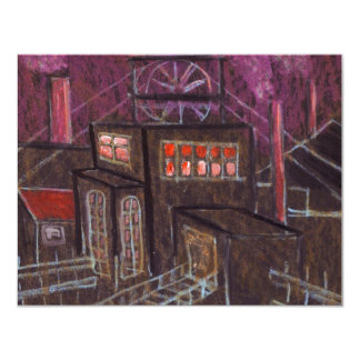 THE PIT HOUSE COLLIERY 11 CM X 14 CM INVITATION CARD