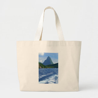 The Pitons in Saint Lucia Large Tote Bag
