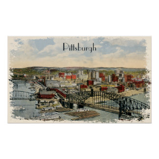 The Pittsburgh Point 1931 Canvas Print