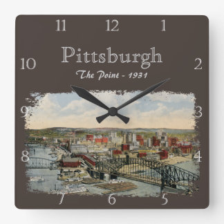 The Pittsburgh Point 1931 Custom Wall Clocks