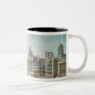 The Place de Greve, Paris Two-Tone Coffee Mug