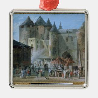 The Place de l'Apport-Paris Silver-Colored Square Decoration