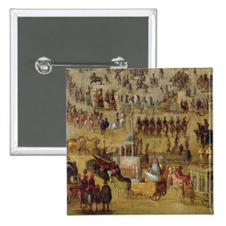 The Place Royale and the Carrousel in 1612 15 Cm Square Badge