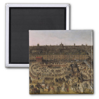 The Place Royale and the Carrousel in 1612 Square Magnet