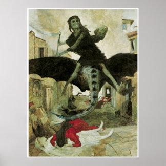 The Plague, Arnold Bocklin, 1898 Poster
