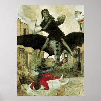 The Plague by Arnold Bocklin Print