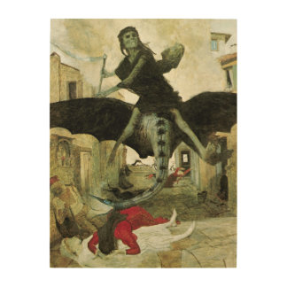 The Plague by Arnold Bocklin, Vintage Symbolism Wood Canvases