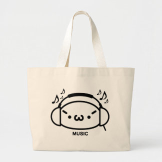 The plain gauze it comes and - is music jumbo tote bag