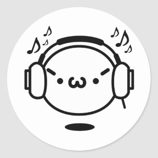 The plain gauze it comes and - is music round sticker