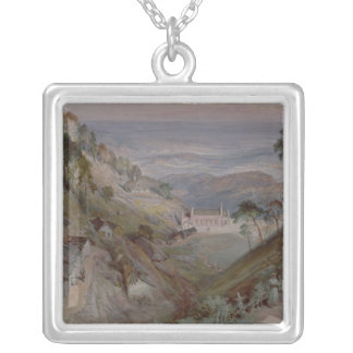 The Plains, Landour Church, Mussoorie, 1884 Silver Plated Necklace