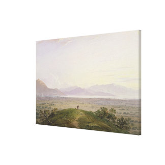 The Plains of Marathon, 1834 (graphite & w/c with Canvas Print