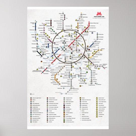 The Plan of Metro 2033 Poster