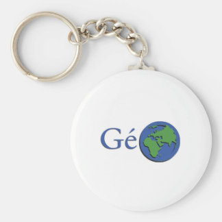 the planet ground - geography basic round button key ring