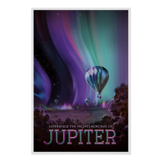 The Planet Jupiter Space Travel Illustration Poster