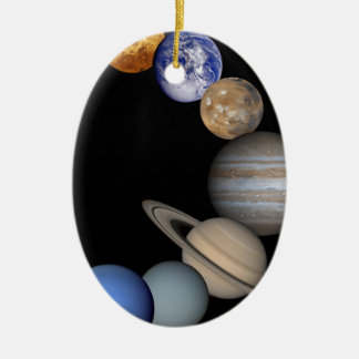 The planets of the solar system. christmas ornament