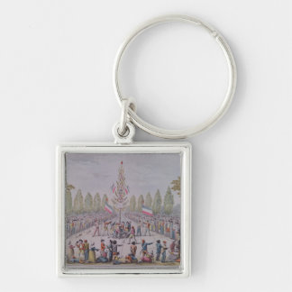 The Plantation of a Liberty Tree Silver-Colored Square Key Ring