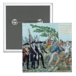 The Planting of a Tree of Liberty, c.1789 15 Cm Square Badge