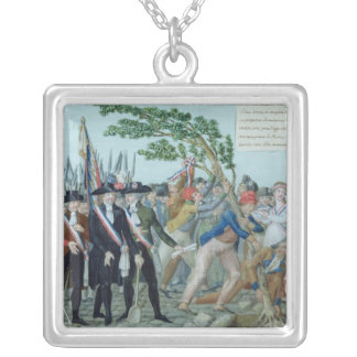 The Planting of a Tree of Liberty, c.1789 Silver Plated Necklace