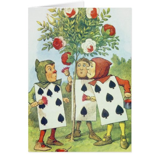 The Playing Cards Painting the Rose Bush