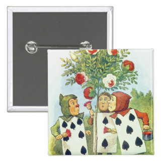The Playing Cards Painting the Rose Bush 15 Cm Square Badge