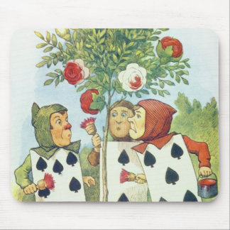 The Playing Cards Painting the Rose Bush Mouse Mat