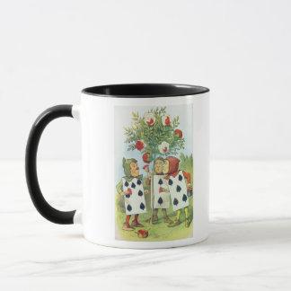The Playing Cards Painting the Rose Bush Mug