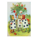 The Playing Cards Painting the Roses Full Colour Print