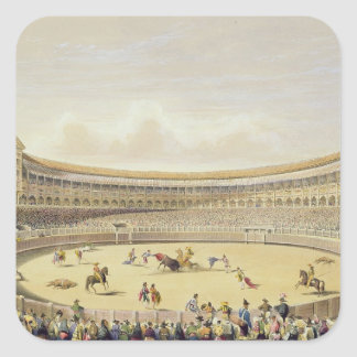 The Plaza de Toros of Madrid, 1865 (colour litho) Square Sticker