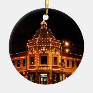The Plaza Lights of Kansas City Round Ceramic Decoration