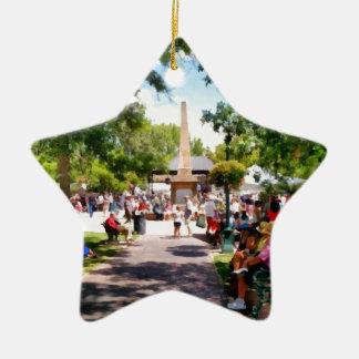 The Plaza Santa Fe New Mexico Christmas Ornament