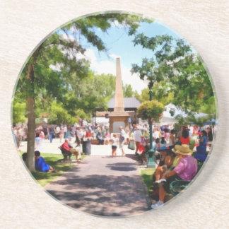 The Plaza Santa Fe New Mexico Drink Coaster