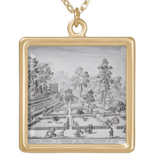 The pleasure garden and Pavilion of Pope Pius IV ( Gold Plated Necklace
