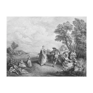 The pleasures of the countryside canvas print