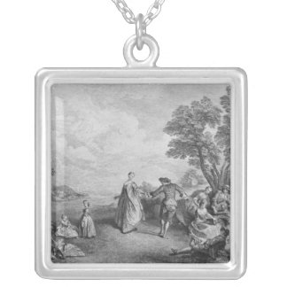 The pleasures of the countryside silver plated necklace