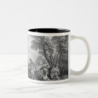 The pleasures of the countryside Two-Tone coffee mug