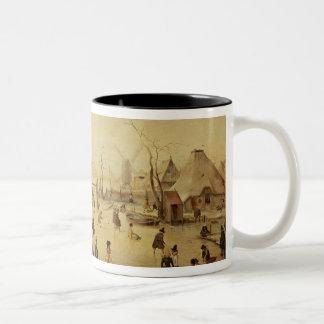 The Pleasures of Winter Two-Tone Coffee Mug