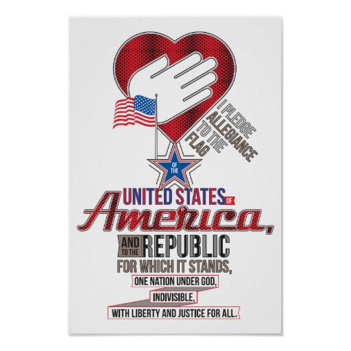 The Pledge of Allegiance Poster