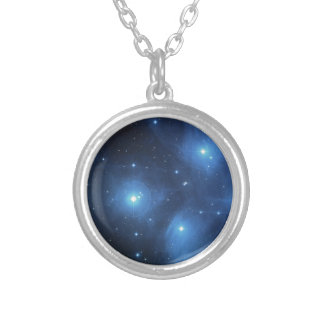The Pleiades star cluster Silver Plated Necklace