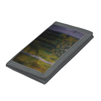The Plight GRAY TRIFOLD NYLON WALLET/APPLEARTCOM Trifold Wallets