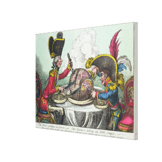 The Plum Pudding in Danger, 1805 Canvas Print