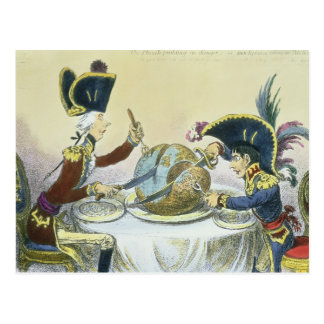 The Plum Pudding in Danger, 1805 Post Card