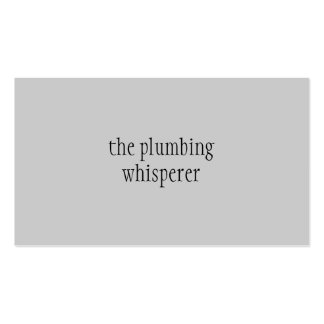The Plumbing Whisperer Pack Of Standard Business Cards