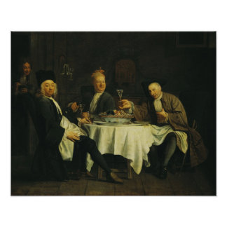 The Poet Alexis Piron  at the Table Poster